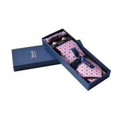 Starorůžová kravata v dárkovém balení Vernon