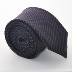 Hedvábná kravata ADRIANO GUINARI - černo-fialová