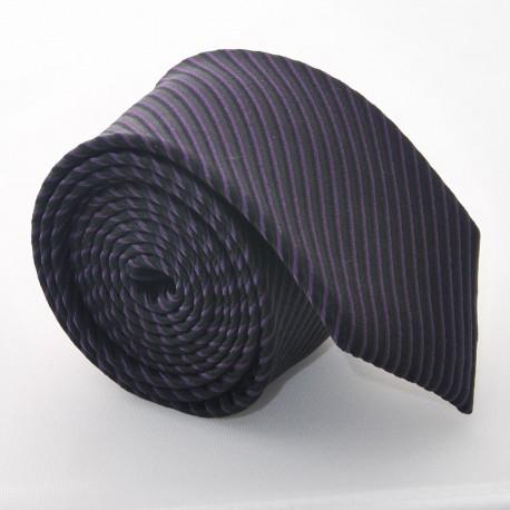 Hedvábná kravata ADRIANO GUINARI (černo-fialová)