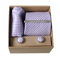Světle fialová kravata v dárkovém balení MARROM