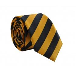 Crazy kravata (žluto - černé proužky)