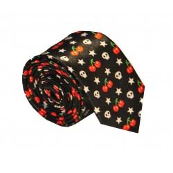 Crazy kravata (třešně a lebky)