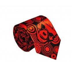 Crazy kravata (černo - červné lebky)