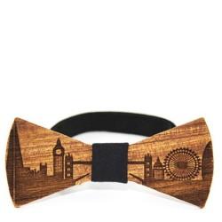 """Dřevěný motýlek vzor """"Londýn"""""""
