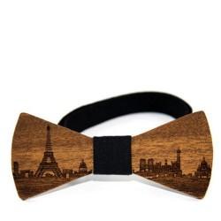 """Dřevěný motýlek vzor """"Paříž"""""""