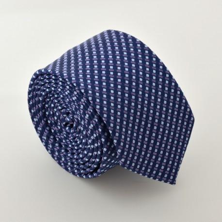 Černo fialová kravata ANGELO di MONTI ADM-66