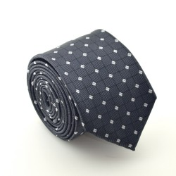 Šedá kravata ANGELO di MONTI ADM-69