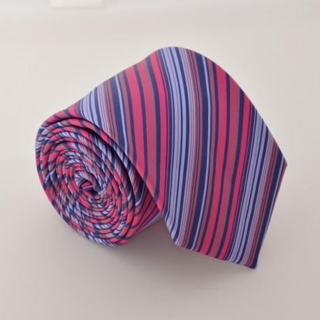 Růžovo fialová kravata ANGELO di MONTI ADM-70
