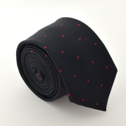 Černá kravata ANGELO di MONTI ADM-73