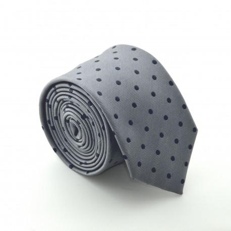 Šedá kravata ANGELO di MONTI ADM-74