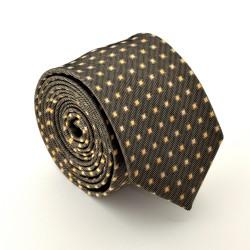 Hnědá kravata ANGELO di MONTI ADM-76