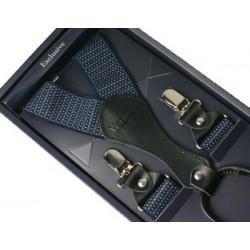 Kšandy - šle - tmavě modré s tečkami II