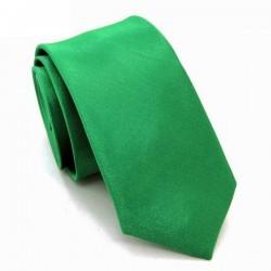 Zelená kravata SLIM - lesklá