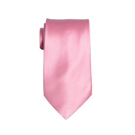 Růžová kravata - lesklá