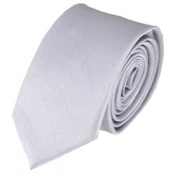 Jednobarevná SLIM kravata (stříbrná)