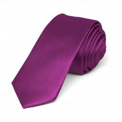 Jednobarevná SLIM kravata (fialová 3)