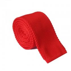 Pletená kravata MARROM - červená