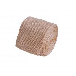 Pletená kravata - béžová