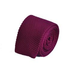Pletená kravata - hnědá se vzorem