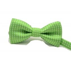 Dětský motýlek se vzorem - zelený