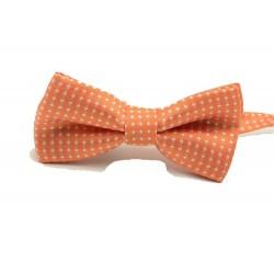 Dětský motýlek se vzorem - oranžový