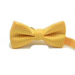 Dětský motýlek se vzorem - žlutý