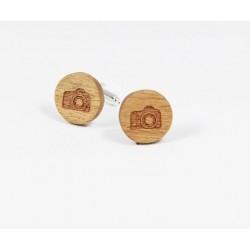 Dřevěné manžetové knoflíčky - trojúhelníky