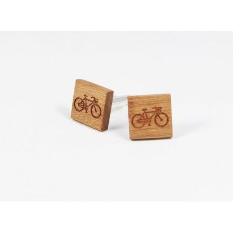 Dřevěné manžetové knoflíčky - mřížka