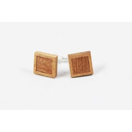 Dřevěné manžetové knoflíčky - výřez