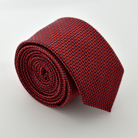 Tmavě červená kravata ANGELO di MONTI ADM-86