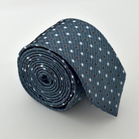 Ocelová - modrá kravata ANGELO di MONTI ADM-90