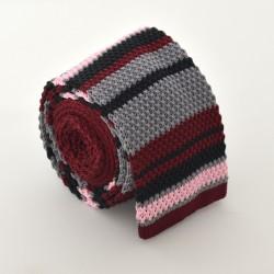 Pletená kravata - proužkovaná