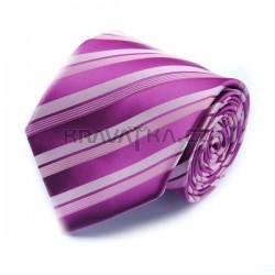 Fialová kravata 13 ANGELO di MONTI