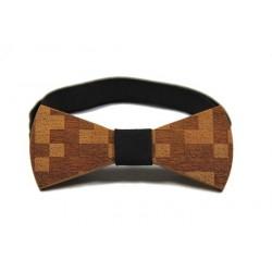"""Dřevěný motýlek vzor """"tetris"""""""
