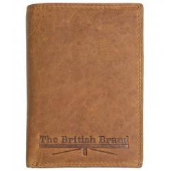 Pánská kožená peněženka The British Brand hnědá