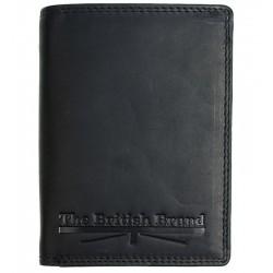 Pánská kožená peněženka The British Brand černá