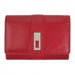 Dámská kožená peněženka Old River červená