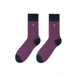 Pánské ponožky MORE fialové s černou patou 39/42
