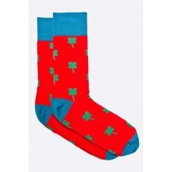 Pánské ponožky MORE červené s čtyřlístky 39/42