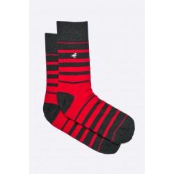 Pánské ponožky MORE červeno černé proužky 43/46