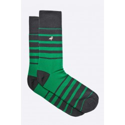 Pánské ponožky MORE zeleno černé proužky 39/42