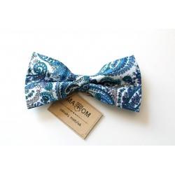 Pánský motýlek MARROM - modrý vzor