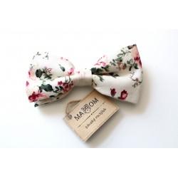 Pánský motýlek MARROM - floral III
