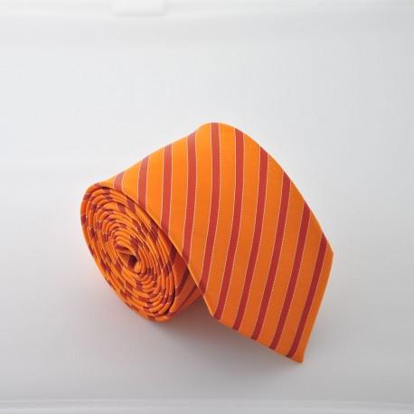 Oranžová kravata ANGELO di MONTI