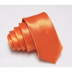 Jednobarevná SLIM kravata - oranžová