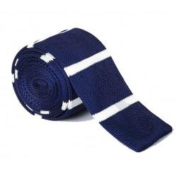 Pletená kravata MARROM - proužky 03