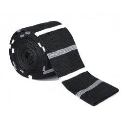 Pletená kravata MARROM - proužky 04