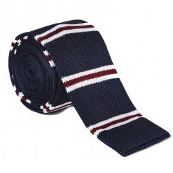 Pletená kravata MARROM - prúžky 05