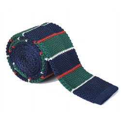 Pletená kravata MARROM - proužky 08