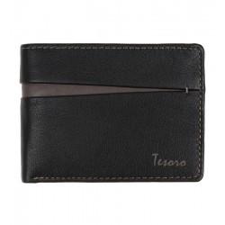 Pánská kožená peněženka černo - hnědá